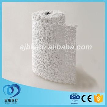 Medical orthopedic plaster of paris cast bandage