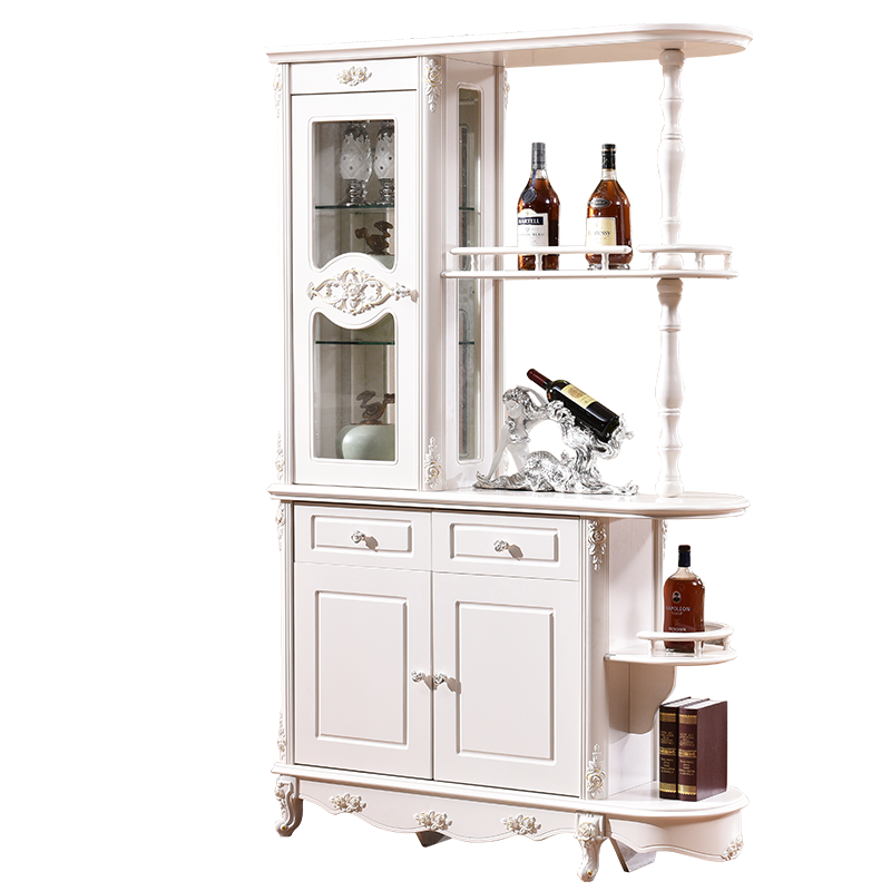 Hand Painted White Decorative Living Room Furniture Partition Display <strong>Cabinet</strong>
