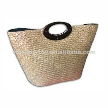 Fashion tote Straw bag, Natural straw handbag