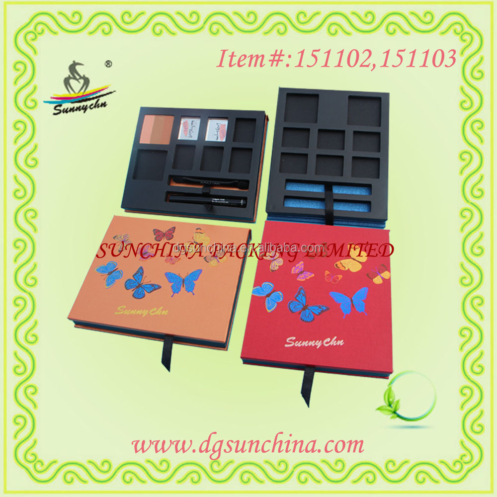 2016 Innovative Paper Eyeshadow Palette for makeup packaging