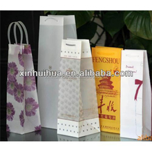 Professional waterproof transparent pvc wine gift boxes for bottle carrier