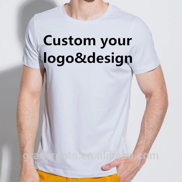 OEM Short Sleeve Cotton Tshirt Slim FIt Men Printing Custom T shirt