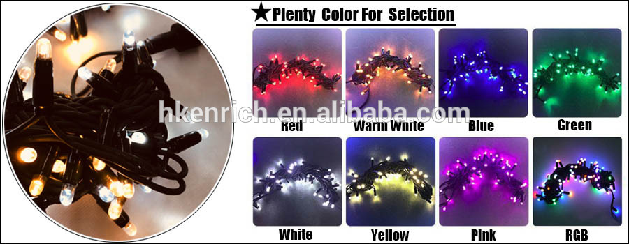 Waterproof LED Christmas string light with rubber cable IP68