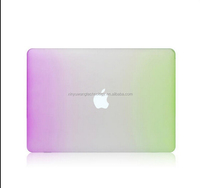 High quality new fashion Gradient rainbow ultra thin PC laptop case for MacBook pro 13.3 inch