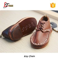 Good quality wholesale leather shoe key chain