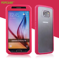 Red frame hard PC clear phone case for Samsung