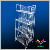 Heavy duty 3 layer metal supermarket shelf wobbler for storage