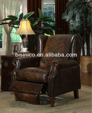 Folding leather sofa chair,single seater chair,American classical living room furniture(BF01-20018)
