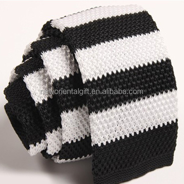 Men Knitted Slim Flat Ties , Men Narrow Knitting Ties