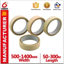 High Quality Brown 144mic-155mic Crepe Paper Masking tape