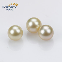12mm AAA real freshwater gold pearl loose wholesale pearls