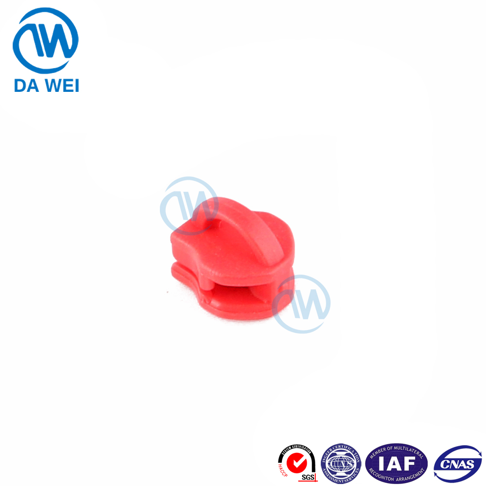 Dawei brand No.5 colorful pvc slider body for soft pvc zipper