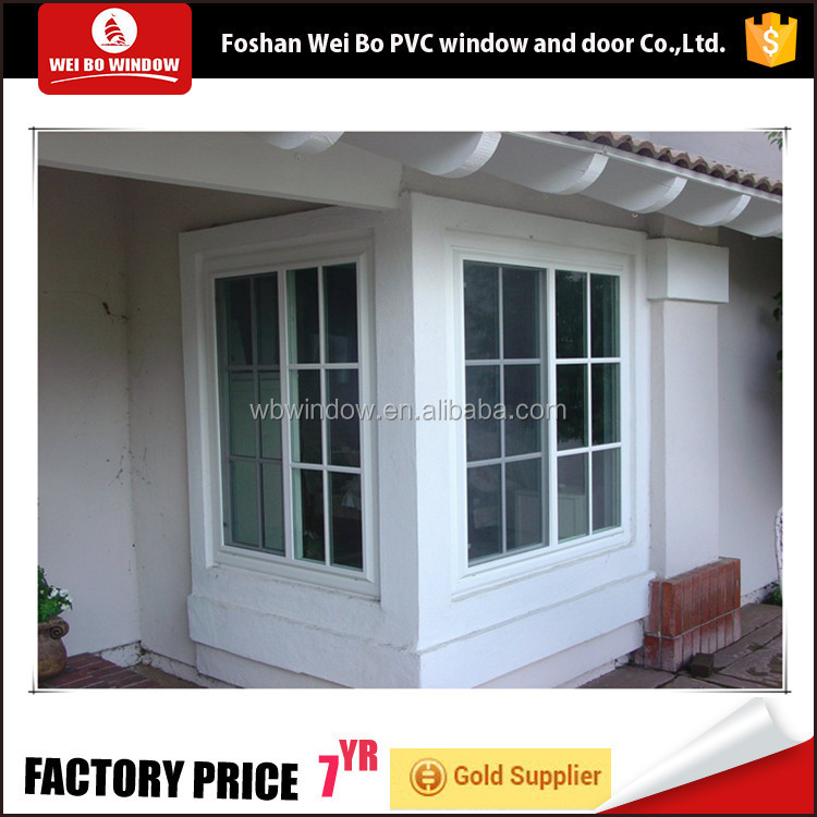 Made in china iron window grill design pvc sliding window with low price