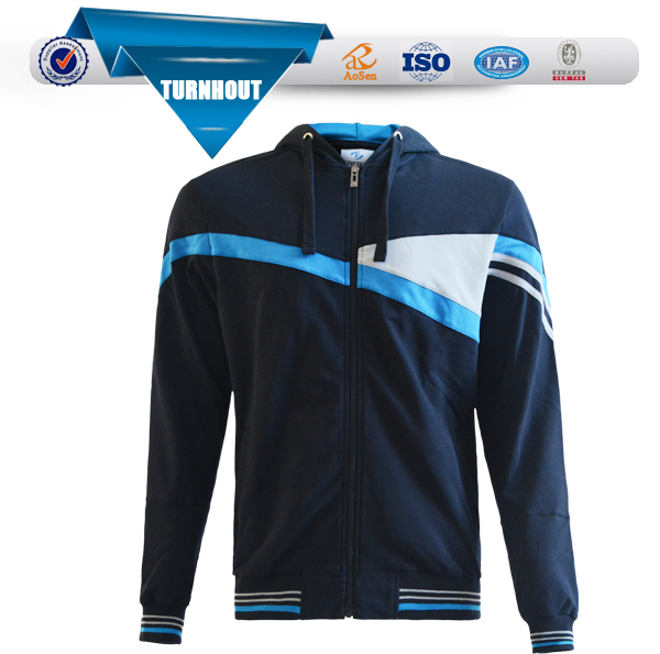 OEM fashion winter sportswear jacket custom print zip sports jacket