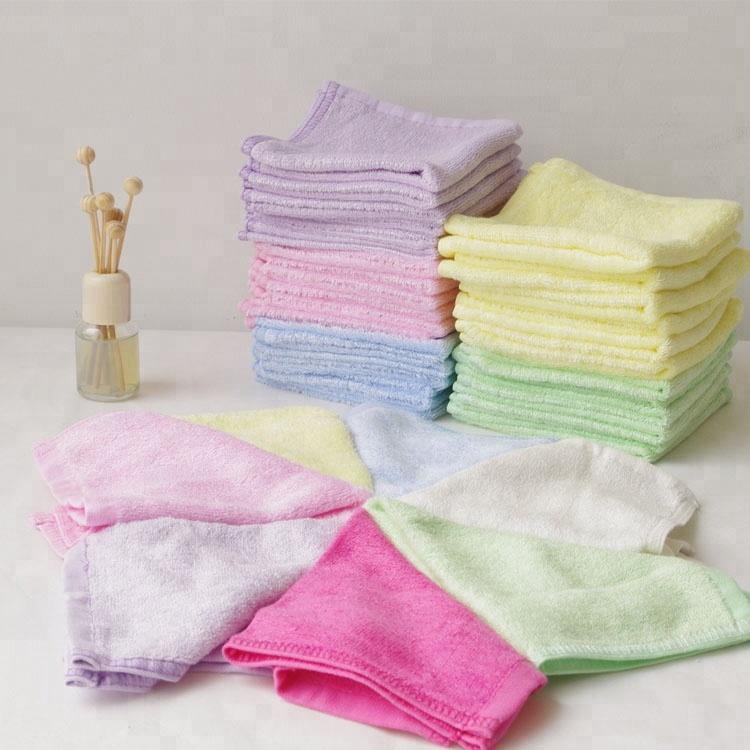 "2018 Best Selling Organic Bamboo Washcloths 10""<strong>x10</strong>"" Baby Face Towel"