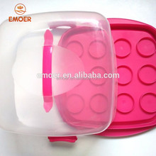 High quality food safe cake carrier cupcake carrier