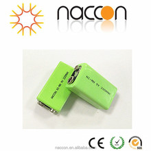nimh 9v 200mah rechargeable batteries ni-mh 9v battery