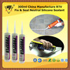 300ml China Manufacture RTV Fix Seal Neutral Silicone Sealant