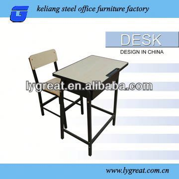 cheap student desk height adjustable single seat school desk