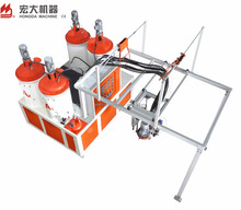 polyurethane footwear three components foaming injection machine
