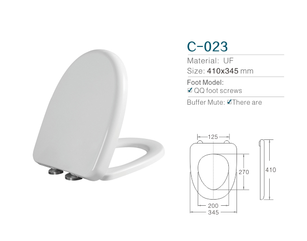 UF Bath Royale Premium Round Toilet Seat Cover with stainless steel hinges part Soft Closing Quick Release for Easy Cleaning