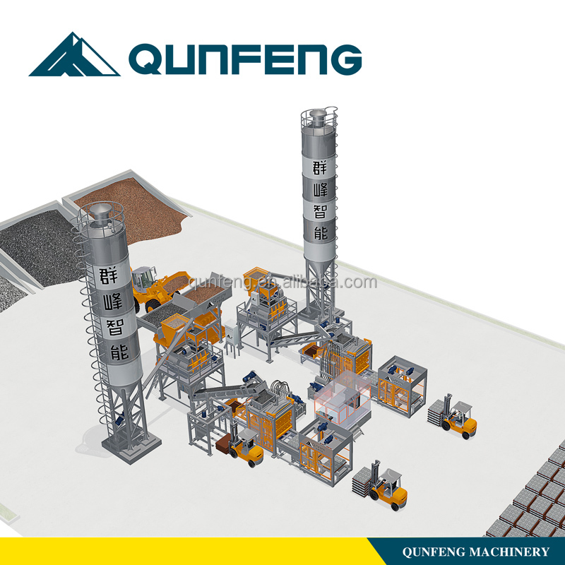 concrete hollow block making machine production line