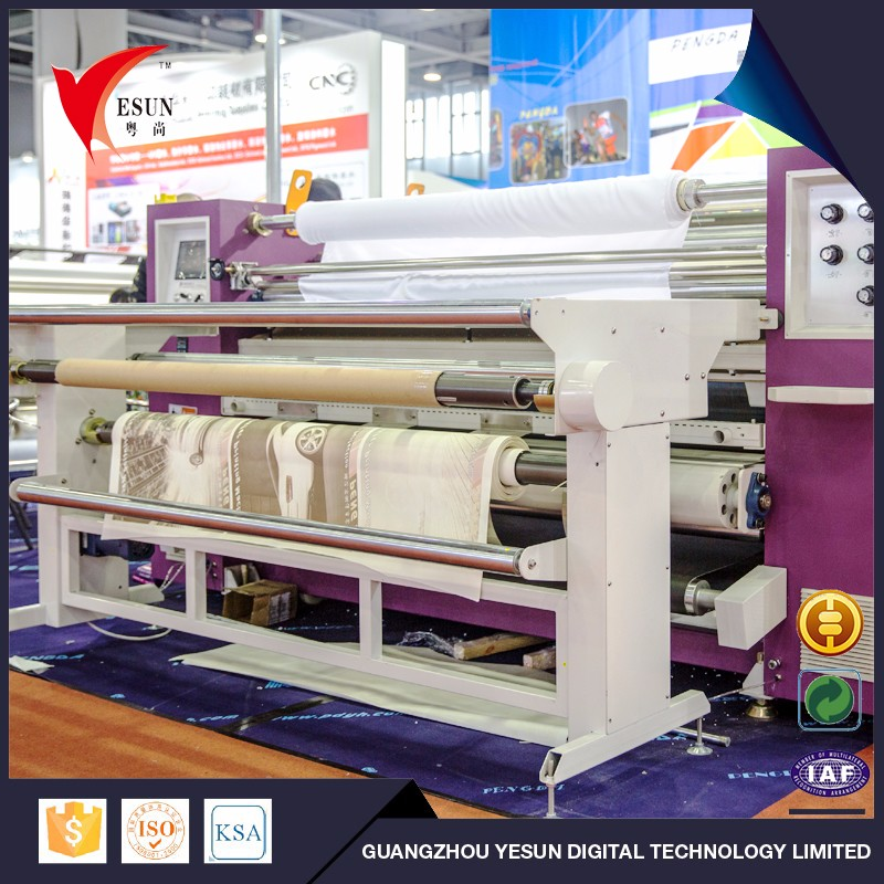 More stable custoom fabric sublimation print transfer machine sublimation roll heat press transfer
