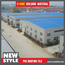 ASA composite plastic tile cost of warehouse construction