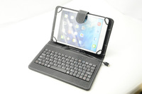 "10"" Folding universal PU Leather Stand Case Cover with Micro USB Keyboard case for 7"" 8"" 10'' Tablet PC Pad"