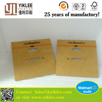 cardboard material jewelry packing card Bass&Co ring display card