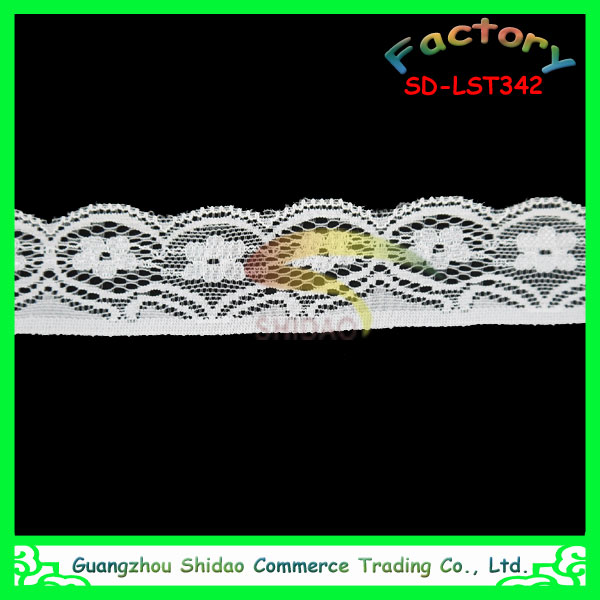 Spandex nylon lycra elastic polyester embroidery lace trimming