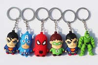 3D PVC Superhero batman keychain plastic action figure manufacturer