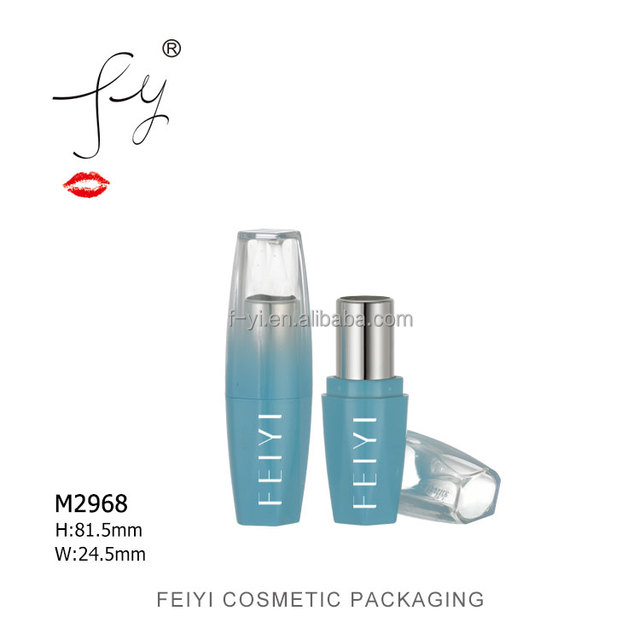 Cosmetic sample Cherry blossom shape blue lipstick package