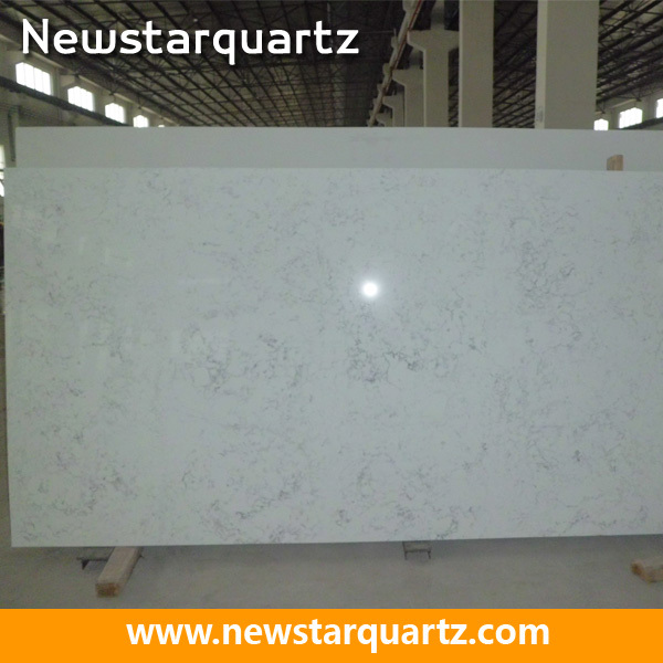 Standard Size 3000x1400mm Cararra White Quartz Slab Buy