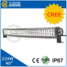 "2014 New Arrival! 224W 40"" LED Curved Light Bar Single Double Row Mixed in One Spot Flood Beam for Offroad 4X4, Trucks, Boats"