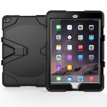 Factory Hot Selling Rugged Silicone PC Case With Kickstand Case for iPad Air 2 Case
