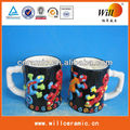 black and white coffee cups,black and white milk cup