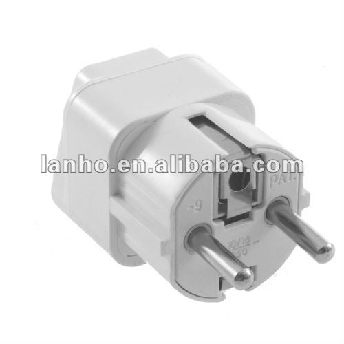 New White Universal AU US UK to EU AC Power Plug Travel Home Converter Adapter