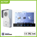 Home security motion detector ACTOP recordable 7inch touch screen intercom