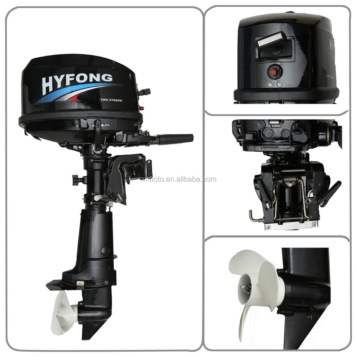 6HP Two-Stroke Heavy Duty Boat Engine Water Cooling Outboard Motor New