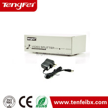 Best quality 2 ports 250mhz vga splitter, Vga Splitter 1 Input 4 Output with bandwidth 600mhz factory price