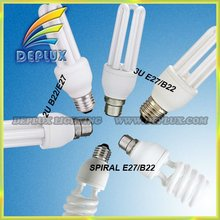 T2T3T4 2U 3U Spiral CFL energy saving lamps