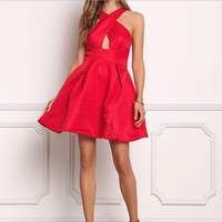 Wholesale Clothing New Fashion Women Elegant Free Prom Red Sexy Dresses