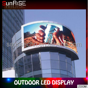 outdoor TV panel led video wall/led billboards p10 p12 p16 p20 p25/flexible large pixels led video wall