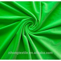 Shiny spandex stretch velvet fabric/four-way stretch