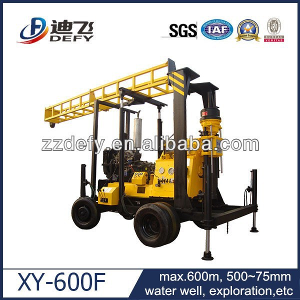 600m deep convenient hydraulic supporting legs portable soil drilling machine