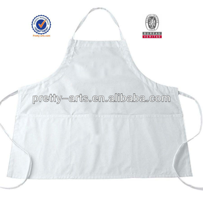 plain white apron cotton