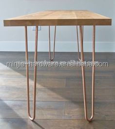 2 rods or 3rods metal rose gold hair pin legs