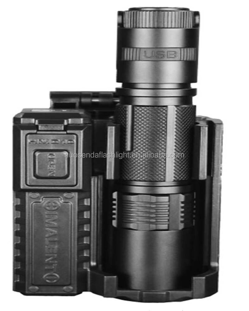 IMALENT DM20 1xCREE XM-L2(<strong>U2</strong>) 3C 800 Lumens Multi-function Tactical LED Flashlight+1xUSB Cable+1xHMD10(<strong>3</strong> in 1) holster+1x18650