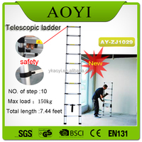 AY 2015 new tools modern kitchen safety lock lidl tools aluminum telescopic ladder